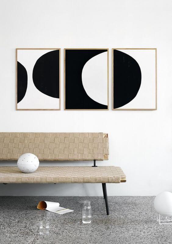 muur met kunstwerken - Ventrio - woonblog